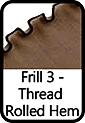 Frill 3-Thread Rolled Hem