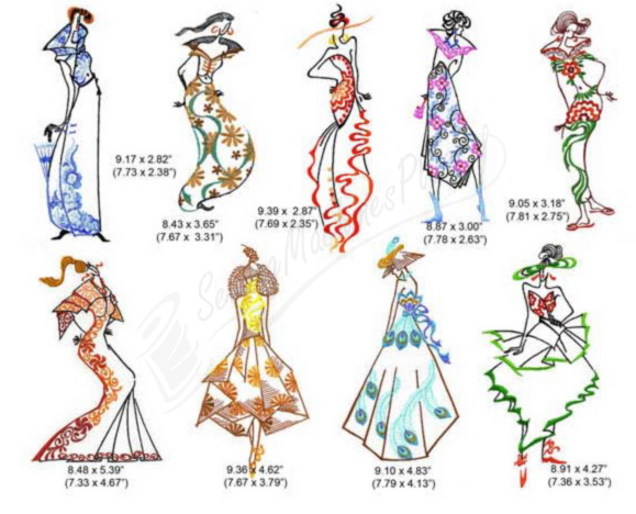 Momo dini embroidery designs fashion ladies 0900154 Fashion embroidery designs