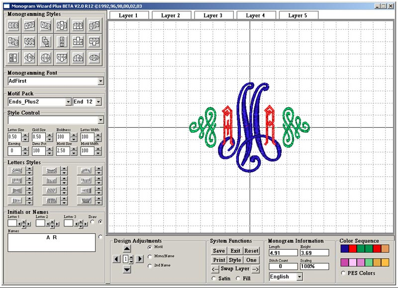 Monogram Wizard Plus Lettering Design Software W/ 3900 Designs ...