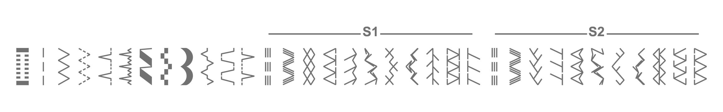 K132A Stitch Patterns