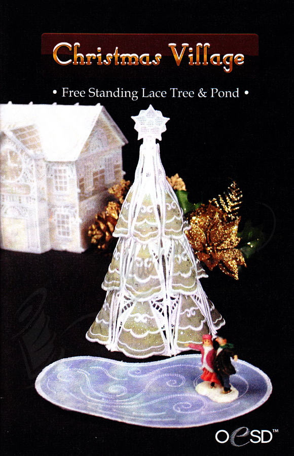 Oesd Free Standing Lace Tree And Skating Pond Collection
