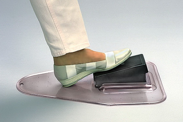 sewing machine foot pedal holder