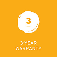 3 Year Manufacturer's Warranty - Click for details