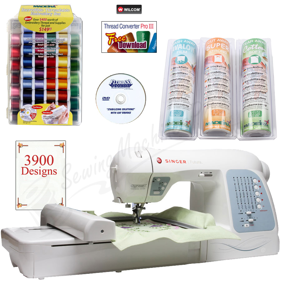 singer futura quartet sewing and embroidery machine