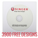 Singer XL-580 Futura Emboidery Machine - Plus Singer 3900 FREE Embroidery Designs