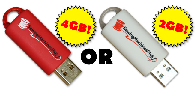 embroidery usb stick 2gb or 4gb