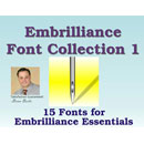 Embrilliance Font Collection 1 Embroidery Software (BB-FNT01)