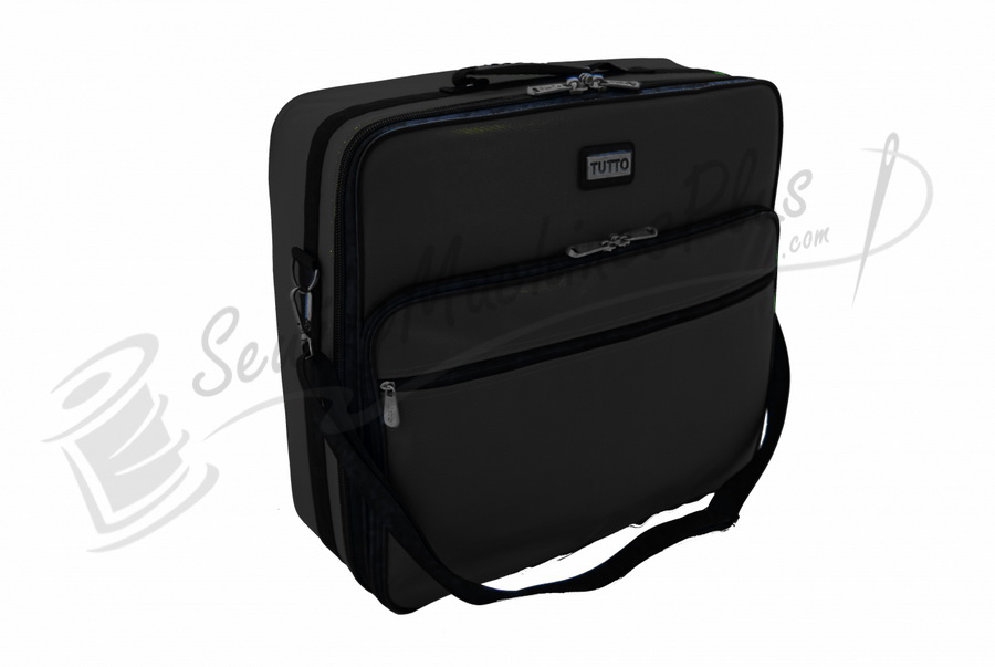 Tutto quot embroidery project bag black