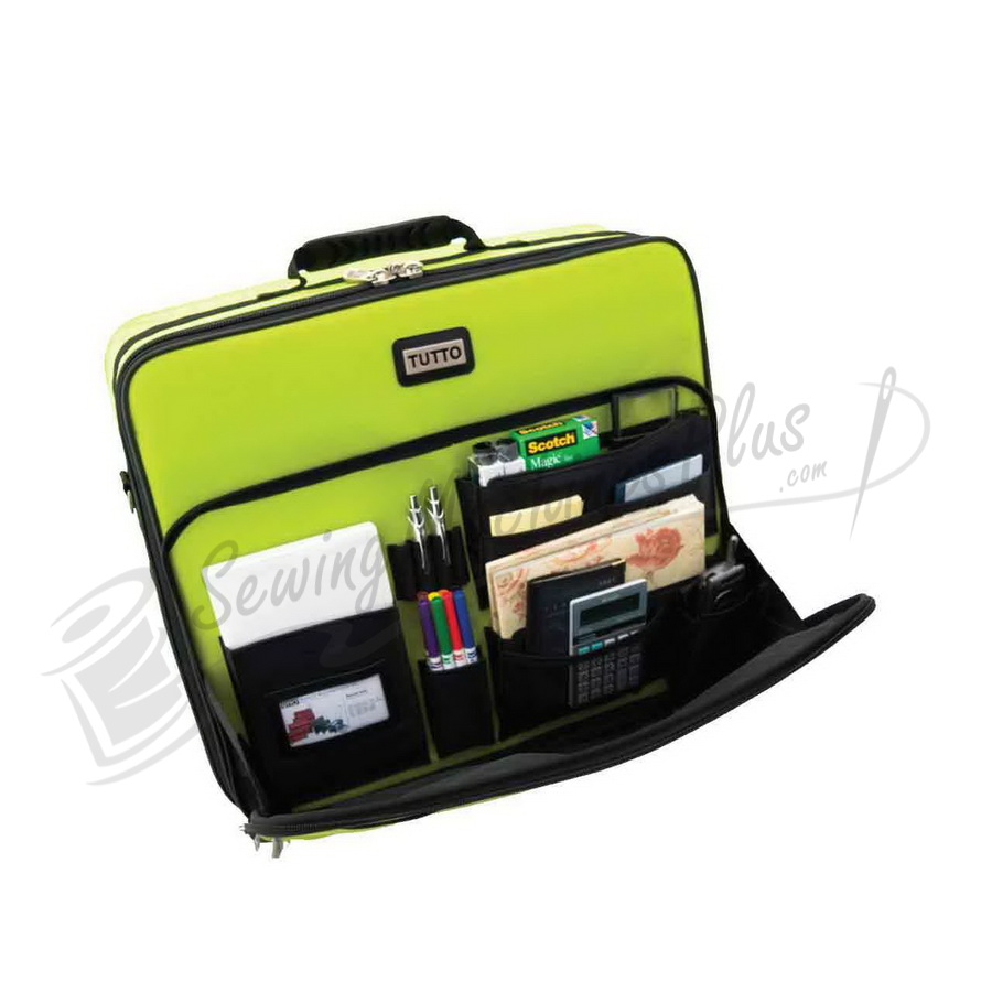 Tutto quot embroidery project bag lime