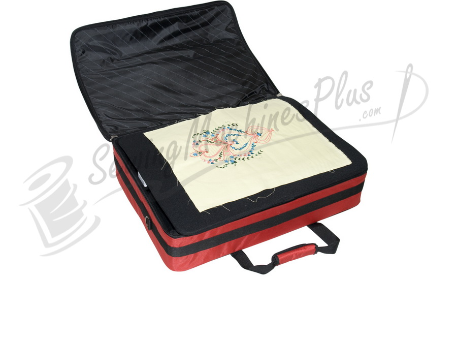 Tutto quot embroidery project bag red