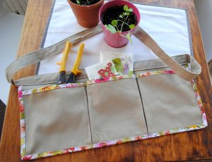 "Gardening Apron, pattern from ""Sewing for All Seasons"" by Susan Beal."