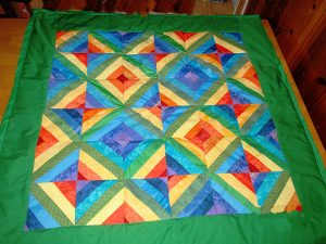 Here is a simplified, quicker version of the baby quilt I showed how to make in a previous post.