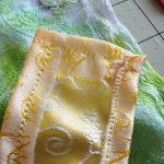 Fabric strip seams.