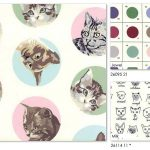 Designer Erin Michael continues her paint-by-number palette with this new line, MEOW or Never, featuring a colorful assortment of feline friends.