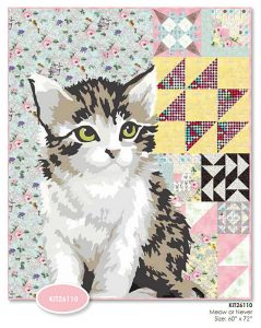 The true piece de resistance of the MEOW or Never line is this giant kitty cat quilt.