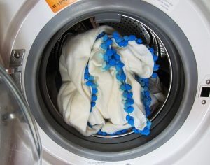 Once completed, I washed the blankets on the gentle cycle in warm, not hot, and did not use fabric softener. Tumble dry on the gentle cycle as well.