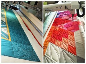 Images via Free Range Quilter and Schnigschnag Quilts and More.