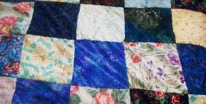 The quilt I've been working on for a while now.