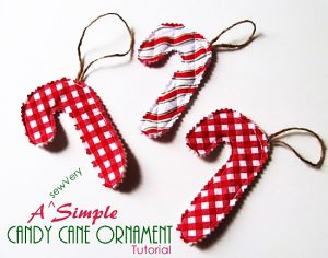 Candy canes themselves are kind of a Christmas classic, so why not have some homemade ones hanging on your tree?