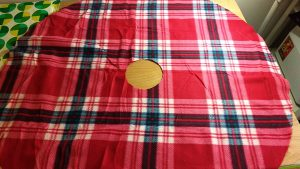 DIY Plaid Christmas Tree Skirt Satin Binding