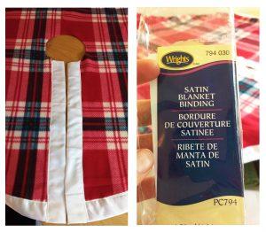 DIY Plaid Christmas Tree Skirt Satin Binding