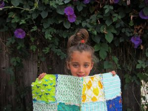 My oldest made this rag quilt with and I snipped it right up with rag quilt scissors.