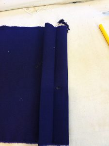 Open the placket up to topstitch.