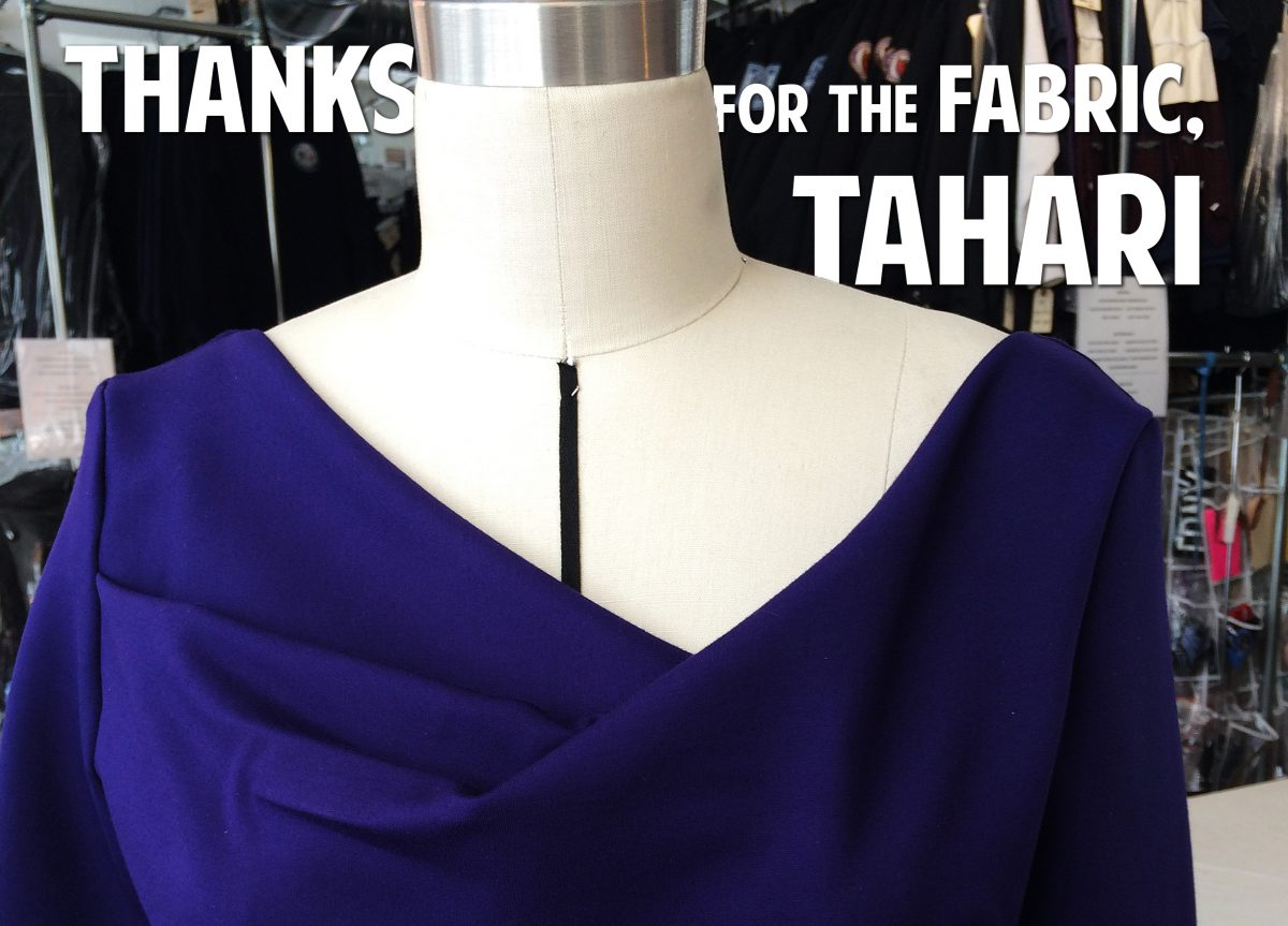 Thanks for the Fabric, Tahari