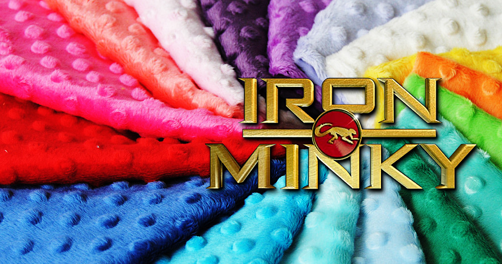 Do NOT iron minky directly!