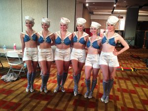 Showgirl ensemble.