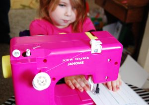 In a world of game systems & electronics, toy sewing machines that may or may not work are still on the shelves.