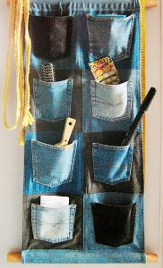 I think this one is a great idea for a closet organizer.