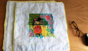I like to reinforce each corner with additional stitching and often will sew around twice for added stability.