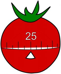 Pomodoro means tomato in Italian and was named after a kitchen timer like this one.