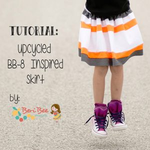 Another Star Wars project that you could make for your little one is this BB-8 skirt.