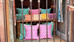 I could not tear my eyes away from the gorgeous colors & textiles of the city.