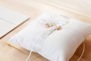 The ring bearer's pillow.