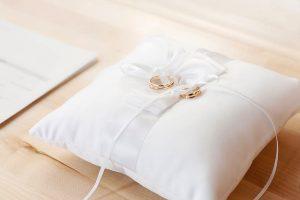 The ring bearer's pillow.