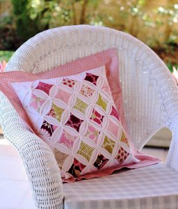 These quilts can employ very specific shapes in their overall design—ones that can be mimicked in pillows.