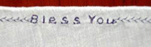 Handkerchief detail.