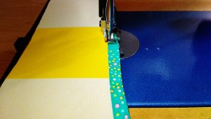 I used some of this handmade trim I had from a quilt I made earlier.