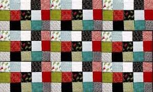 A postage stamp quilt.