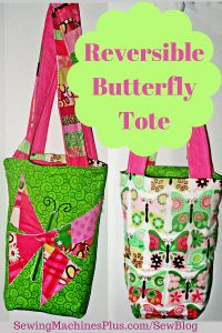 Reversible butterfly tote.