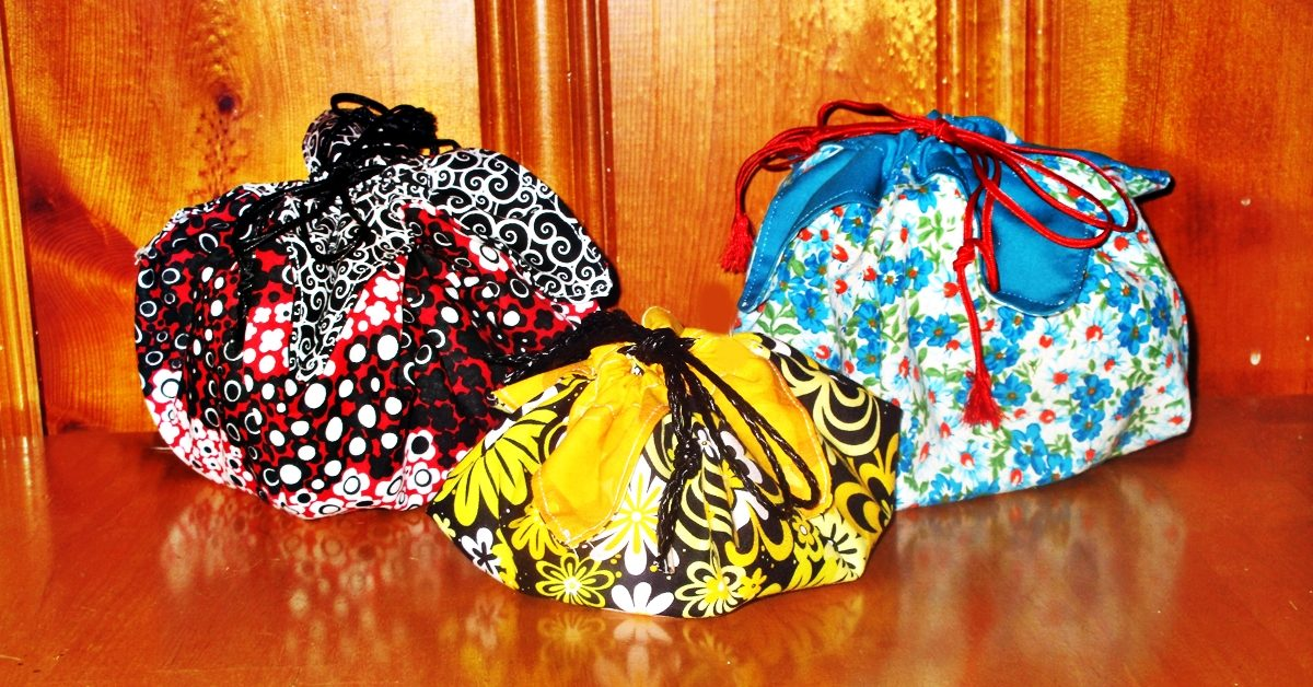 Lotus Drawstring Pouch Make Great Gift Bags