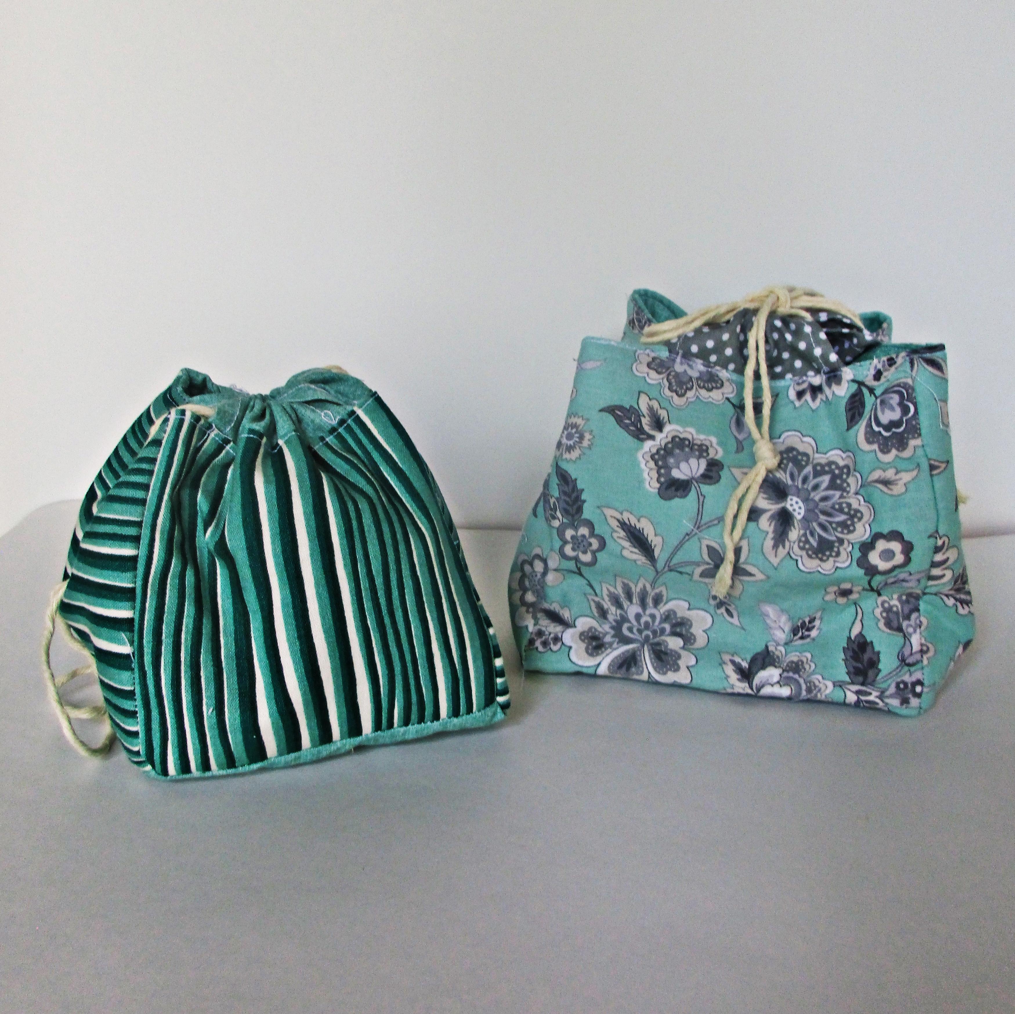 Tutorial More Kinchaku Japanese Drawstring Bags