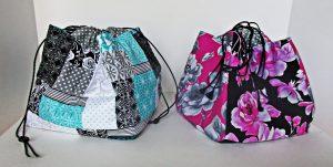 kinchaku Japanese bag tutorial by Millie Green