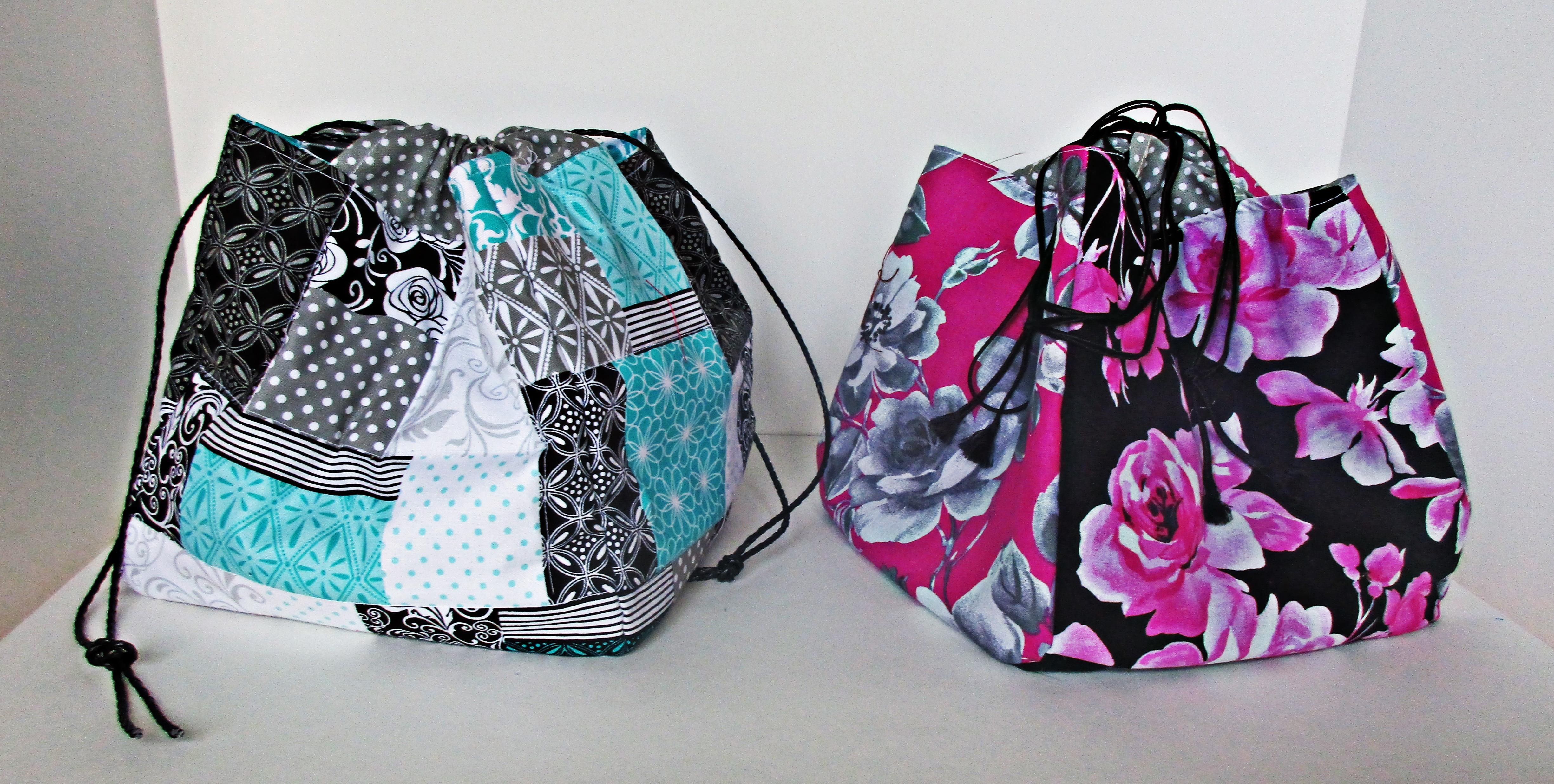Dashwood Floral Fabric Medium Drawstring Bag Project Bag Project Bag