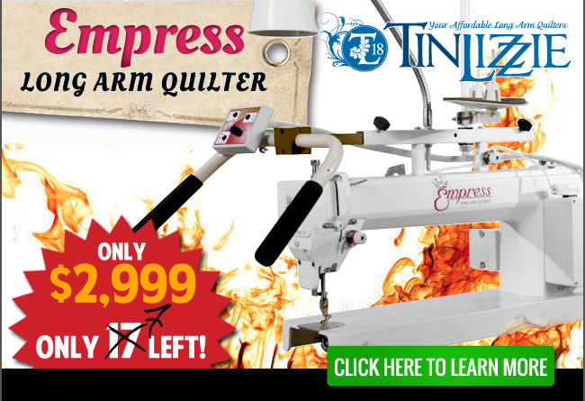 Tin Lizzie 18-inch Empress Long Arm Quilting Machine